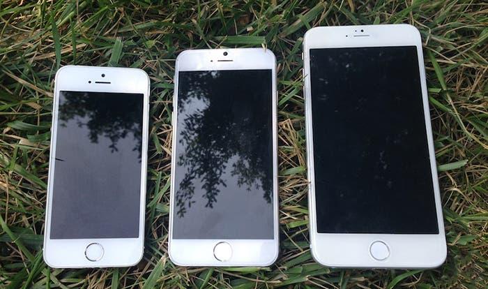 iPhone 5s y prototipos de iPhone 6