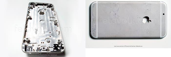 Prototipo de carcasa metálica del iPhone 6