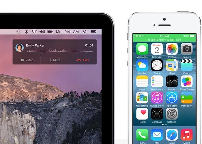 Integración entre OS X Yosemite y iOS 8