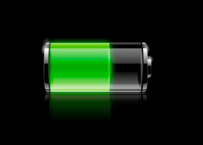 Batería con nivel de carga medio