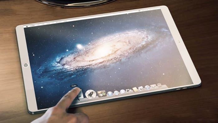 Concepto del iPad de 12,9 pulgadas