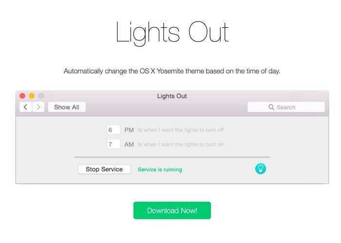 Herramienta Lights Out para OS X Yosemite
