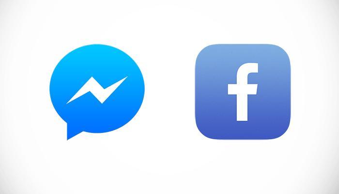 Logos de Messenger y Facebook
