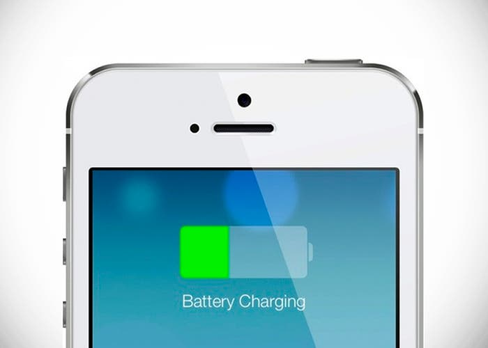 Batería cargándose en iPhone 5s