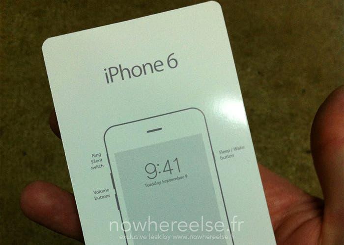 Tarjeta con la fecha de martes de 9 septiembre, supuesta fecha de presentación del iPhone 6