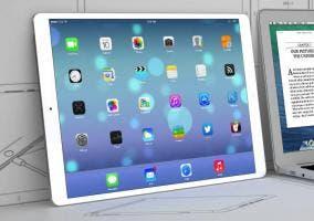 Representación gráfica del posible nuevo iPad de 12,9 pulgadas