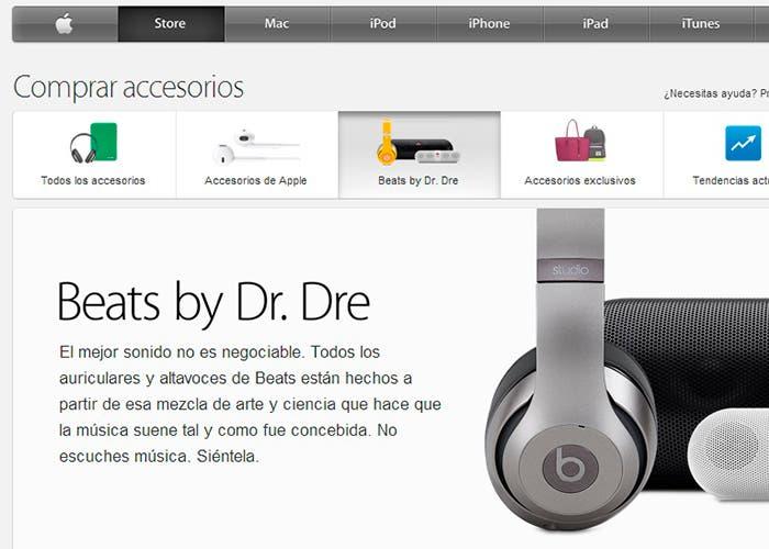 Nueva sección de Beats en el Apple Store Online
