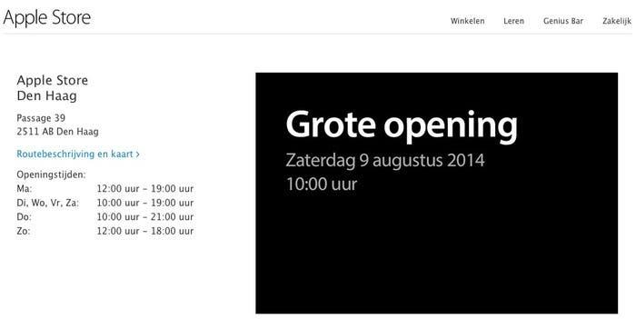 Inauguración de la Apple Store de La Haya