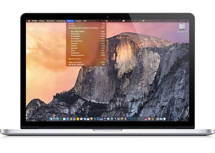 OS X Yosemite en un MacBook Air