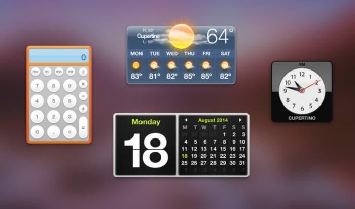 Rediseño del Dashboard en OS X Yosemite