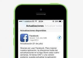 Actualización de Facebook para iOS