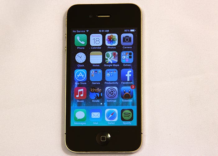 iPhone 4 con iOS 7