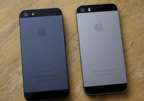 Parte trasera del iPhone 5 y iPhone 5s