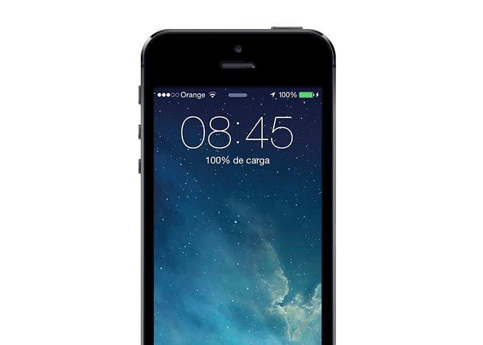 Batería cargada al 100% en iPhone 5s