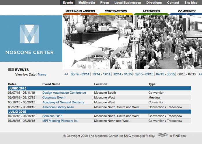 Reserva del Moscone Center para la WWDC del año que viene