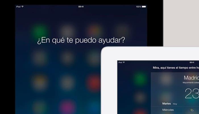 Activa Siri usando un comando de voz