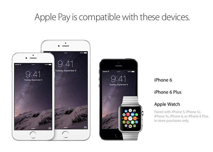 Dispositivos compatibles con Apple Pay