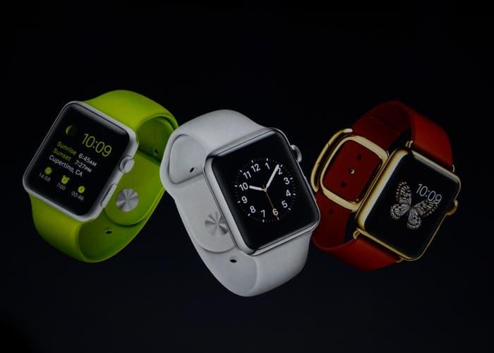 Distintos modelos de Apple Watch