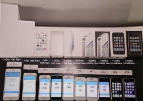 Comparación del rendimiento de todos los iPhones