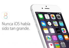 iPhone 6 con iOS 8