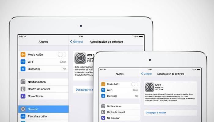 Instalar iOS 8 en el iPad