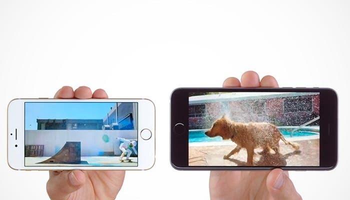 Fotograma de un anuncio del iPhone 6 y 6 Plus