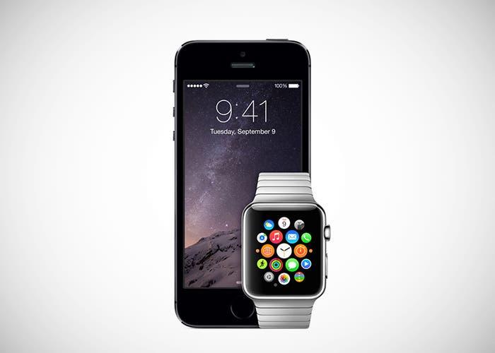 iPhone 6 junto al Apple Watch