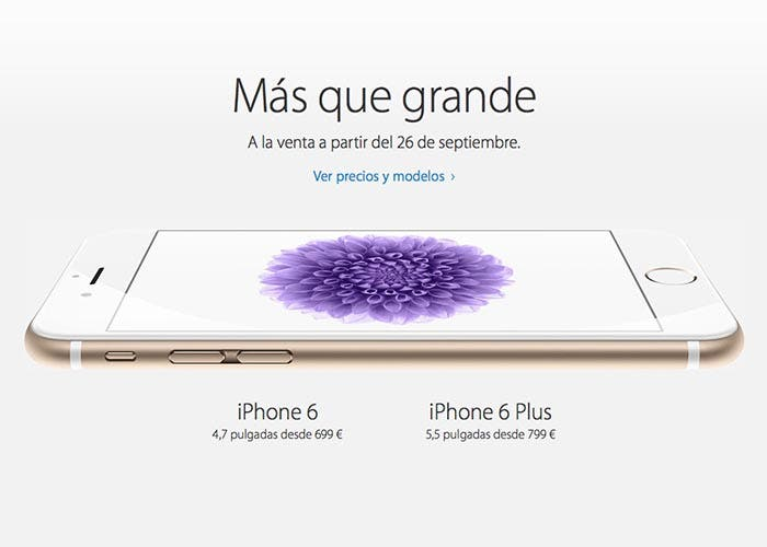 Precios y fecha de lanzamiento para el iPhone 6 y iPhone 6 Plus