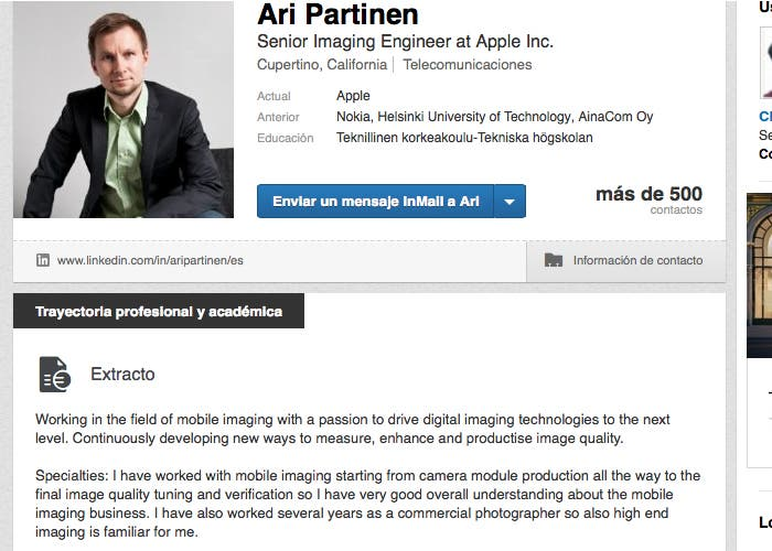 Ari Partinen ya trabaja en Cupertino