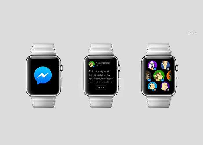 Aplicación Facebook Messenger para Apple Watch