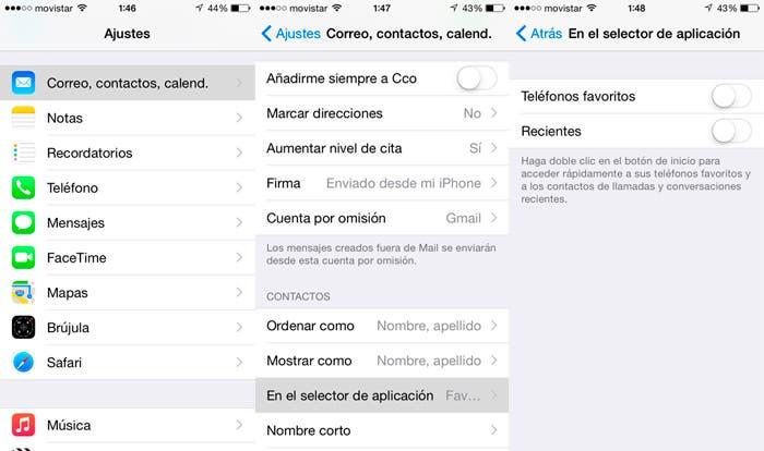 Quitar contactos en la multitarea de iOS 8