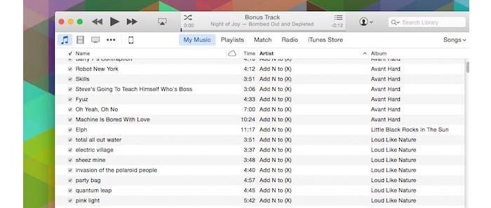 Cambia al estilo de lista de iTunes 12