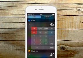 Widget de PCalc para el Centro de Notificaciones de iOS 8