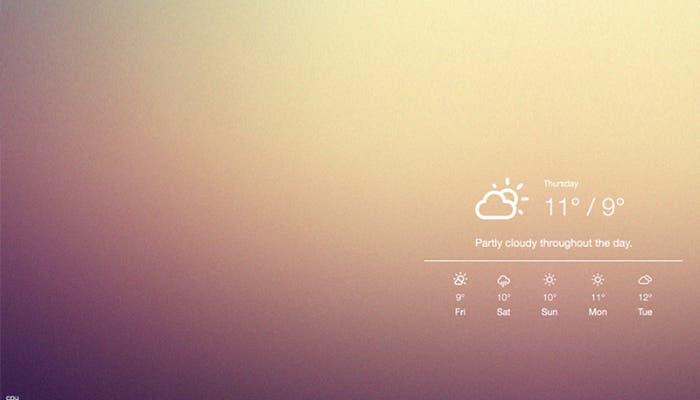 Mejora el escritorio de OS X con Ubersicht
