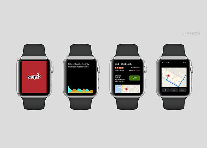 Aplicación Yelp para Apple Watch