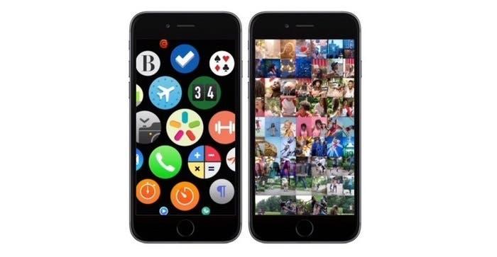 Concepto de iOS como Watch OS