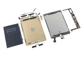 Distintas partes del iPad Air 2