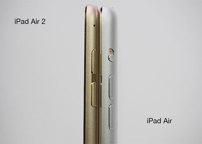 Comparativa iPad y Ipad Air 2
