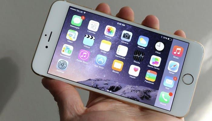 iPhone 6 Plus en modo apaisado