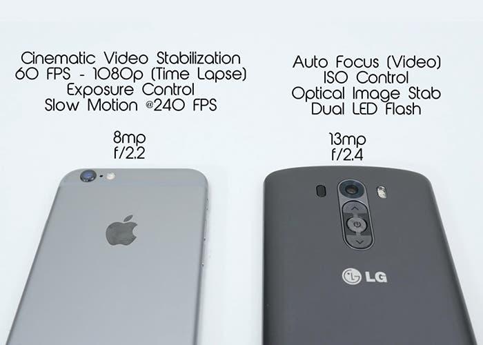 Comparativa de la cámara del iPhone 6 y el LG G3