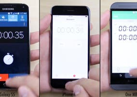 Comparativa de rendimiento entre iPhone 6, HTC One (M8) y Samsung Galaxy S5