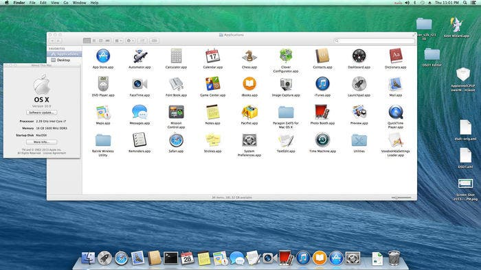 Mac con OS X Mavericks