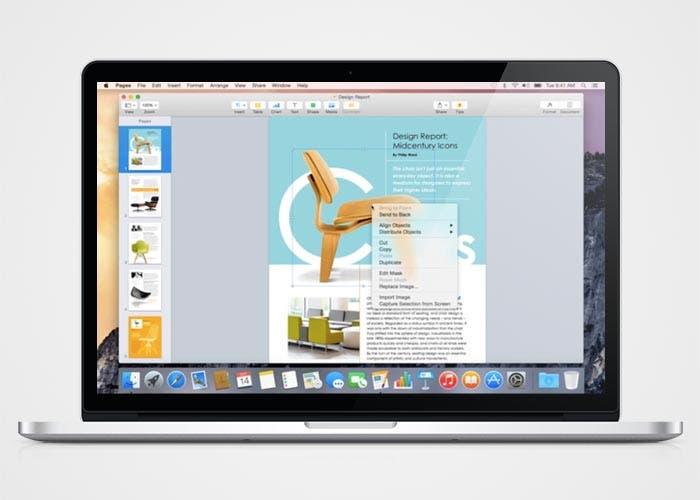 Pages en OS X Yosemite