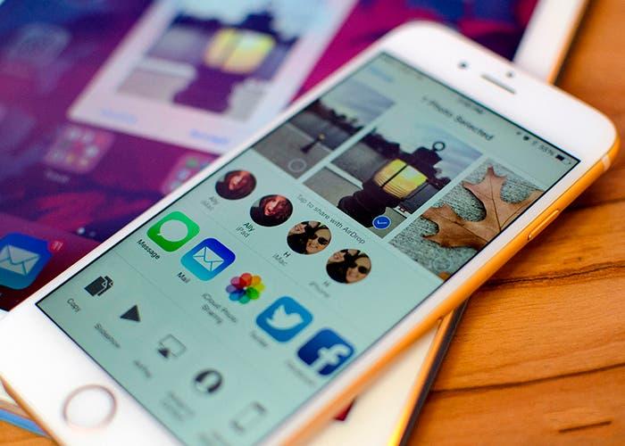 Compartir archivos con AirDrop en iPhone 6