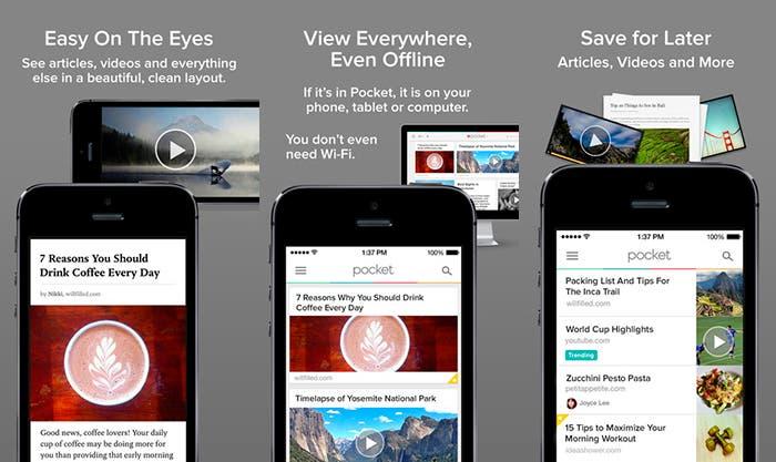 Pocket para iPhone, iPad y Mac