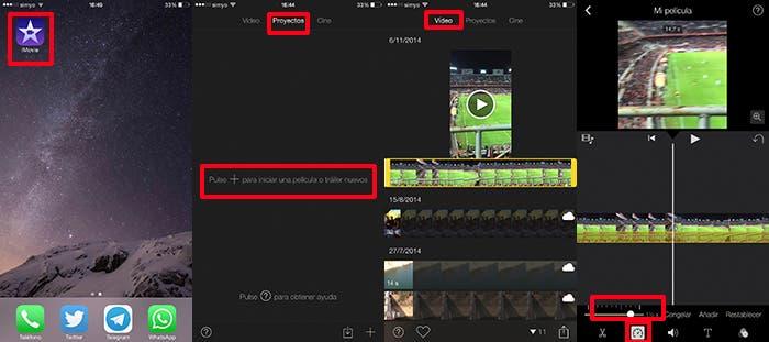 Creación de vídeo a cámara lenta
