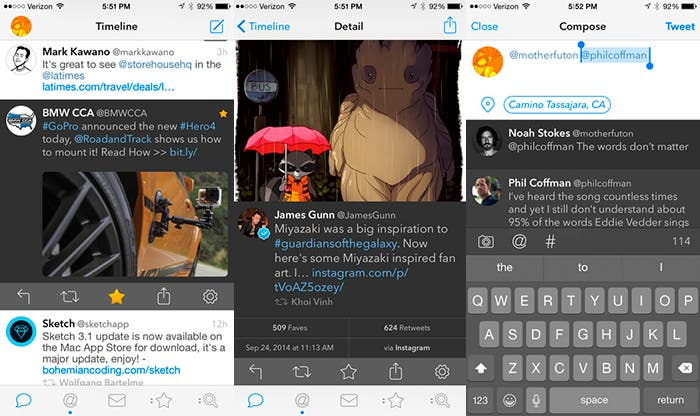 Tweetbot 3 para iPhone