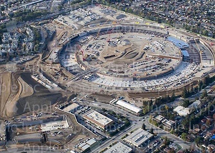 Imágenes de las obras del Apple Campus 2