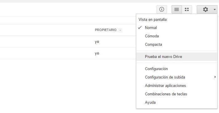 Cambiar a nuevo Google Drive