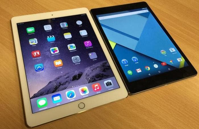 Google Nexus 9 y iPad Air 2